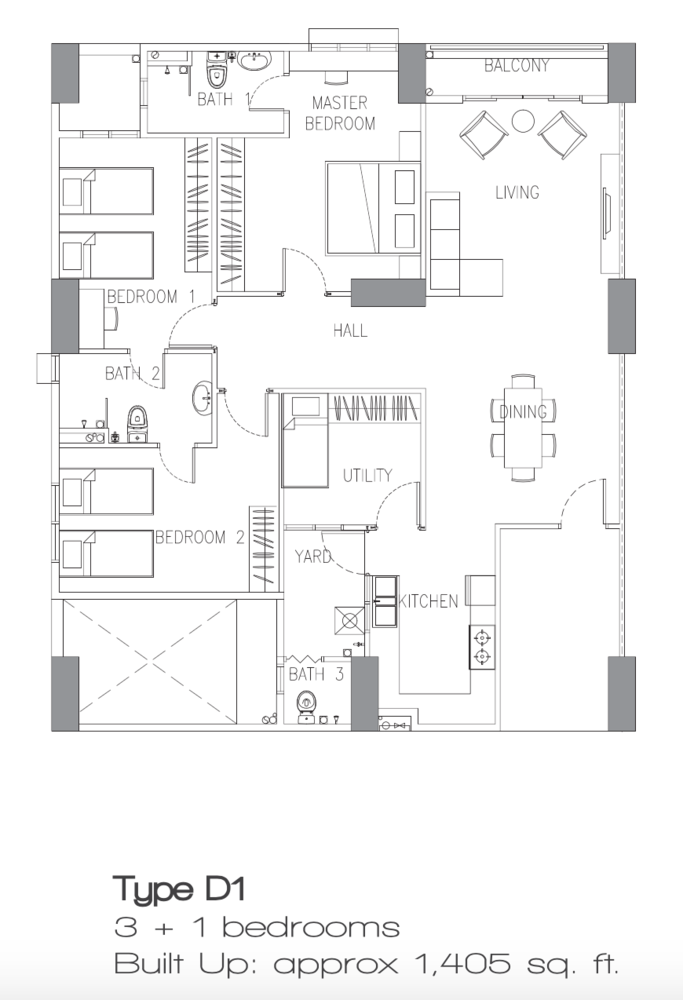 Sierra East Type D1 Floor Plan