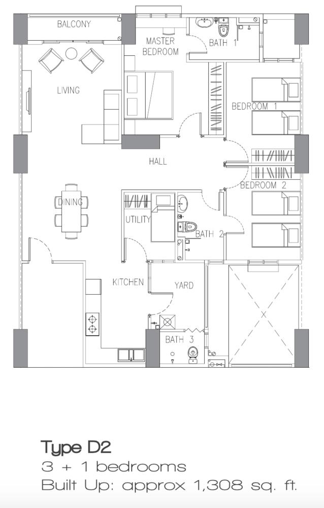 Sierra East Type D2 Floor Plan