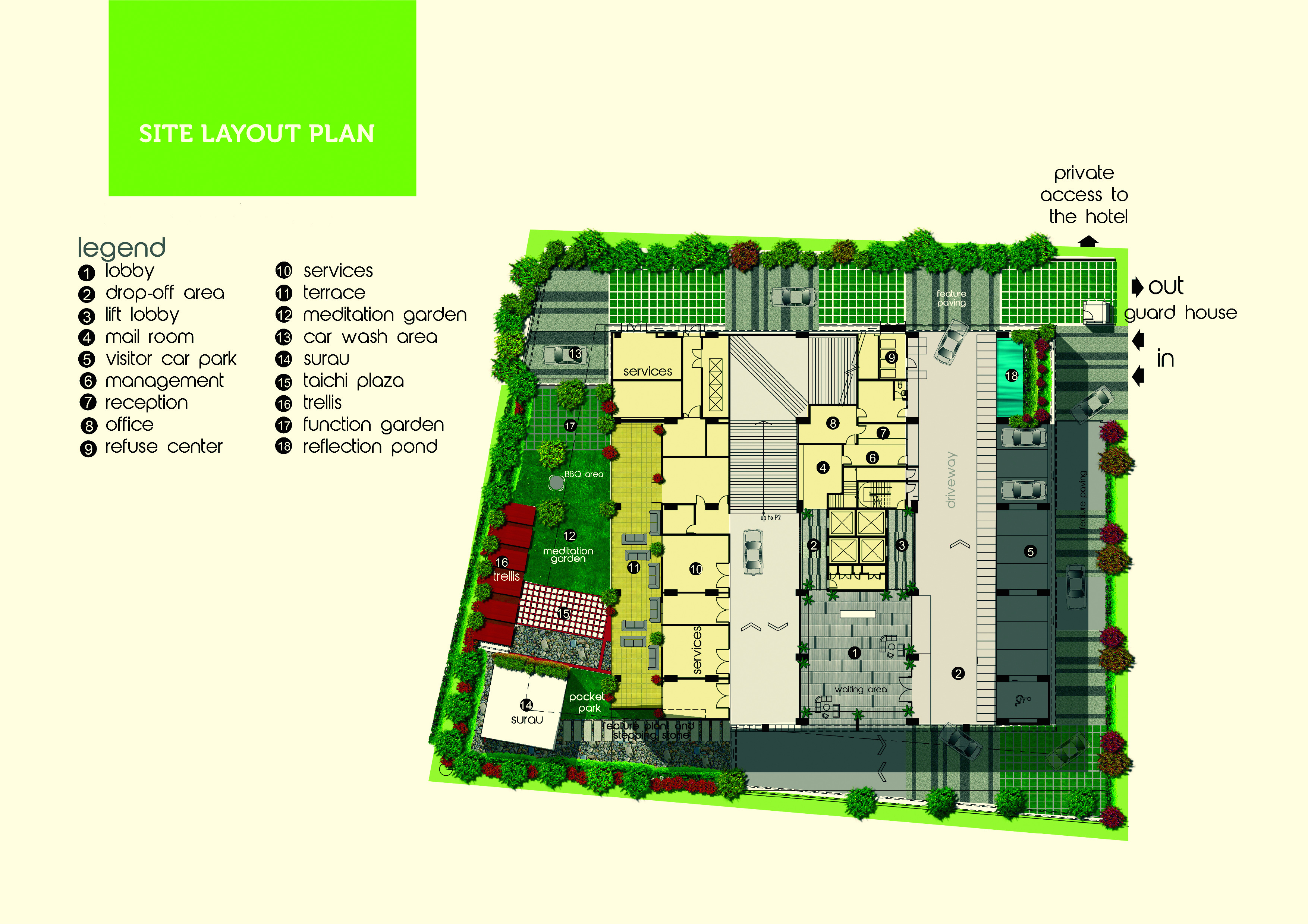 Site Plan of Olive Tree Residences