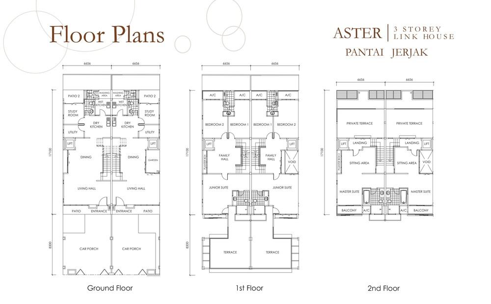 Taman Pantai Indah Standard Unit Floor Plan