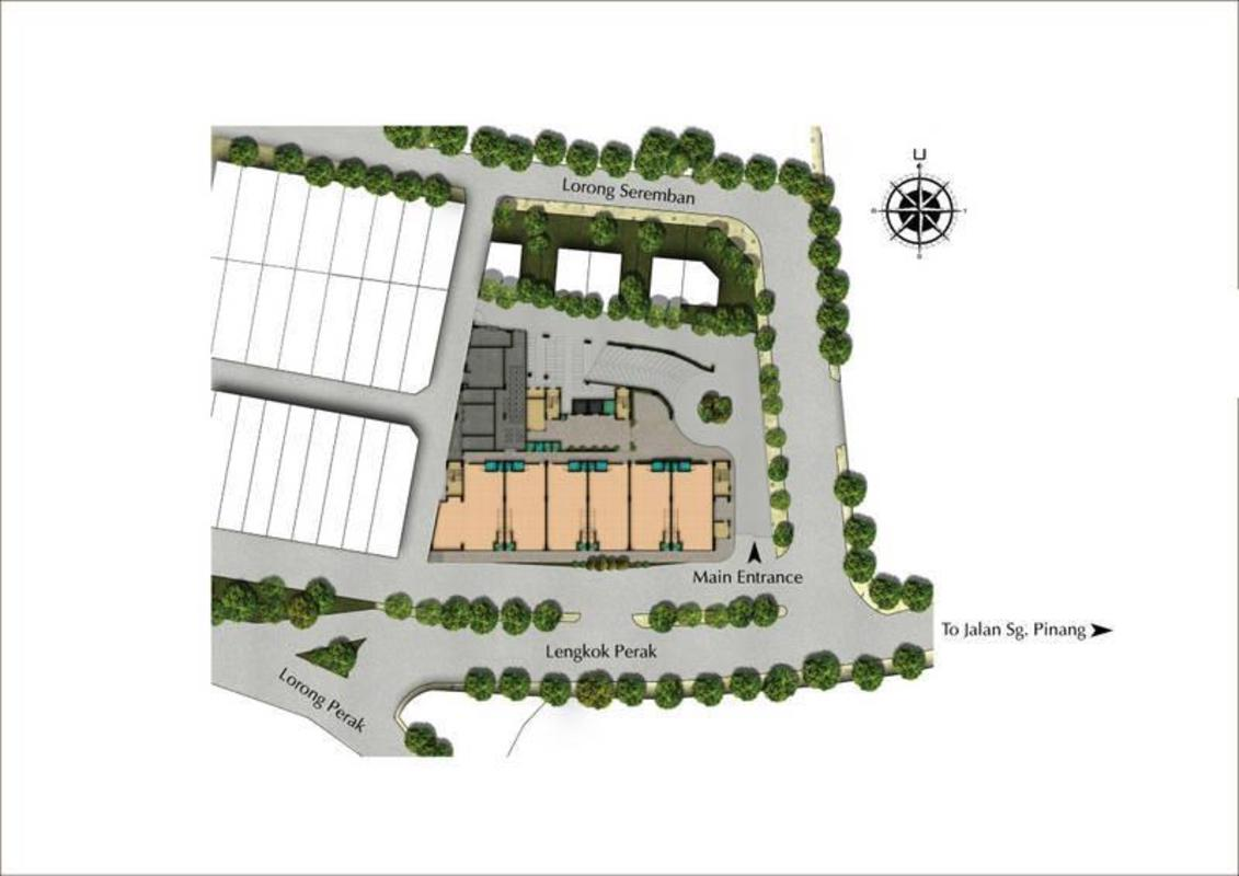 Master Plan of 86 Avenue Residences
