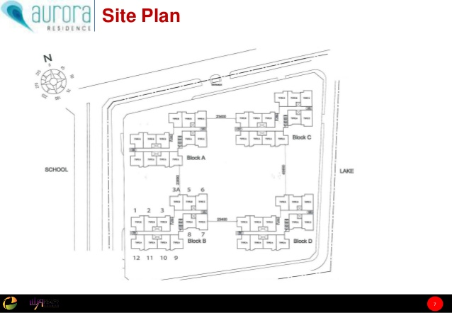 Site Plan of Aurora Residence @ Lake Side City