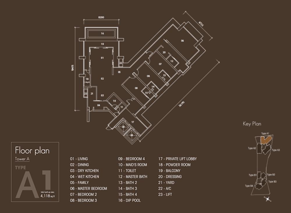 Setia V Residences Type A1 Floor Plan