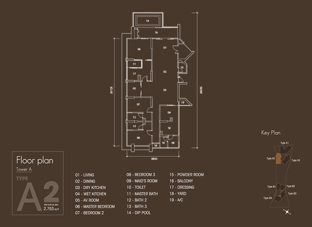 Setia V Residences Type A2 Floor Plan