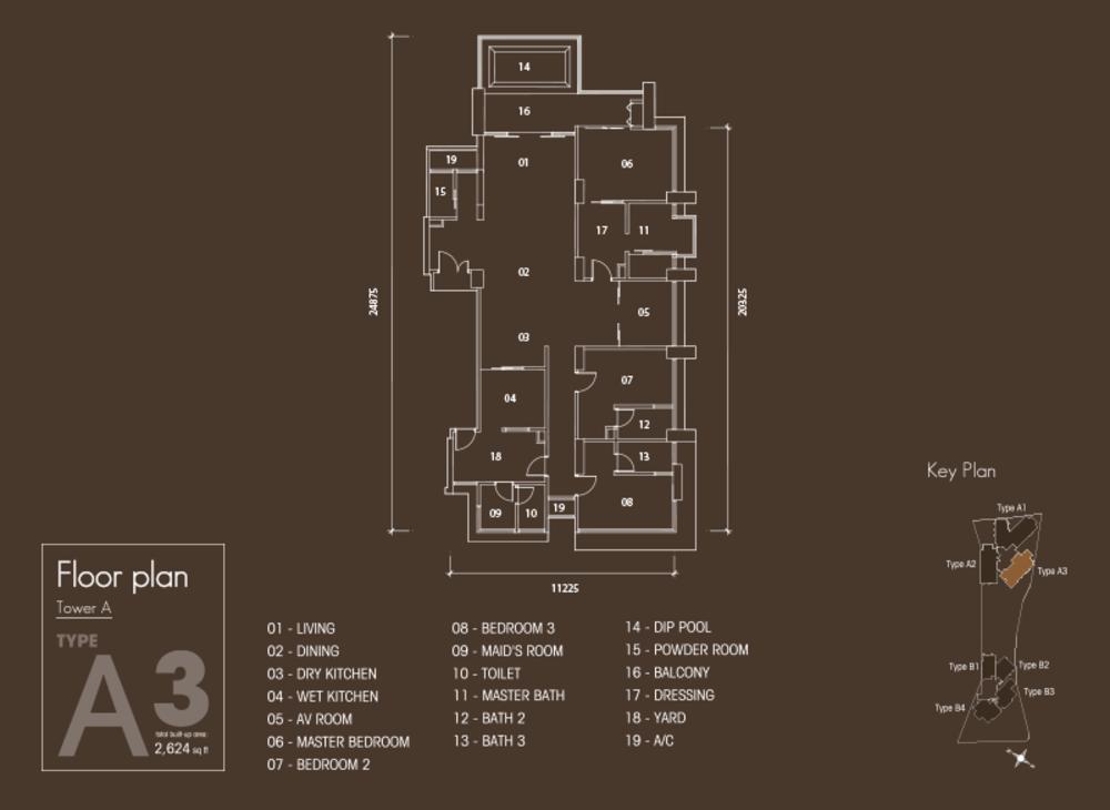 Setia V Residences Type A3 Floor Plan