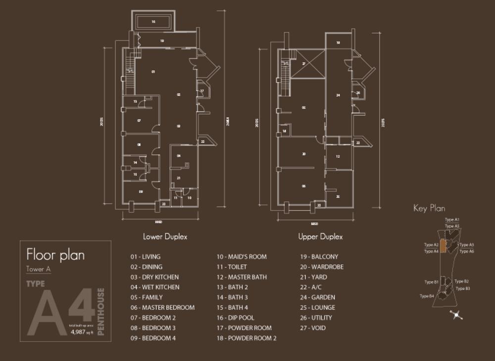 Setia V Residences Type A4 Floor Plan