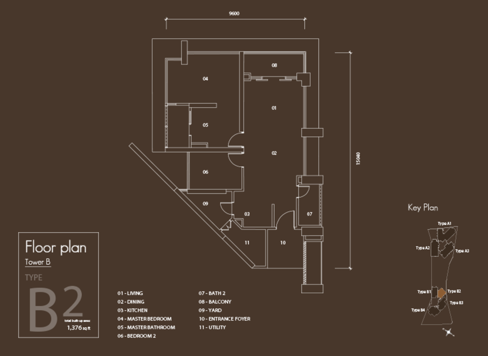 Setia V Residences Type B2 Floor Plan