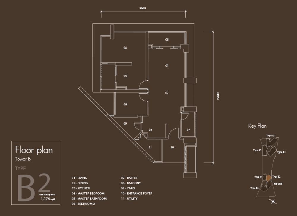 Setia V Residences Type B2 Floor Plan