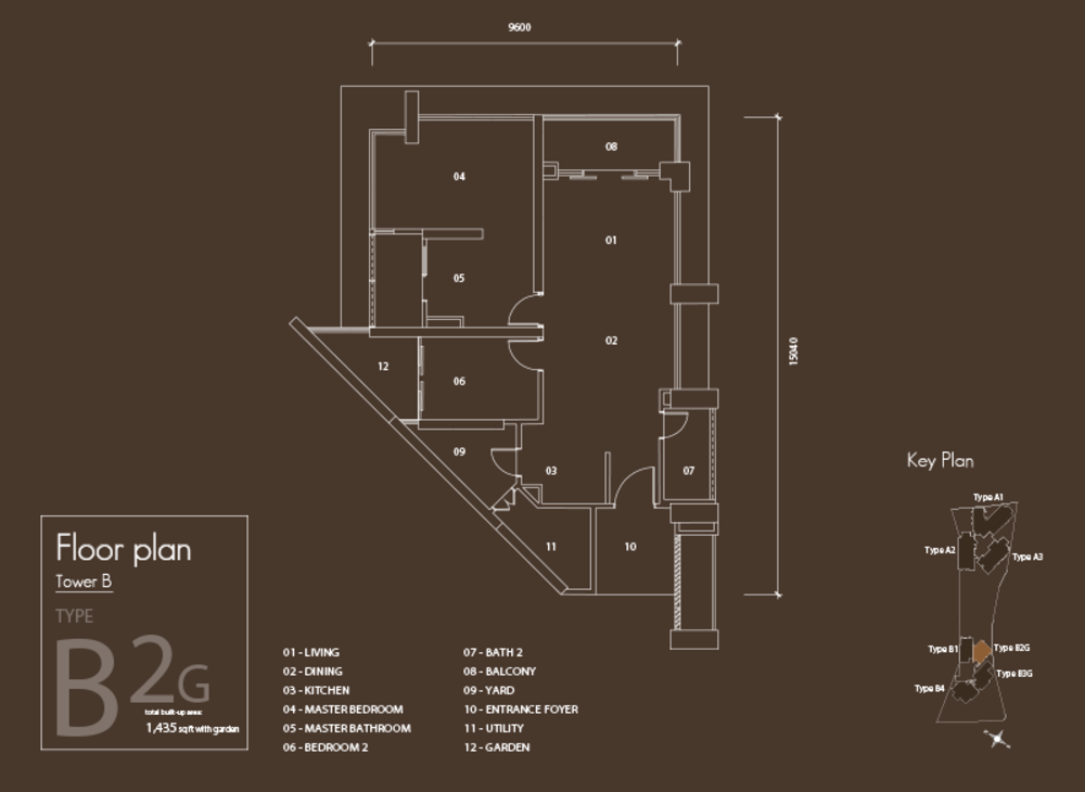 Setia V Residences Type B2G Floor Plan