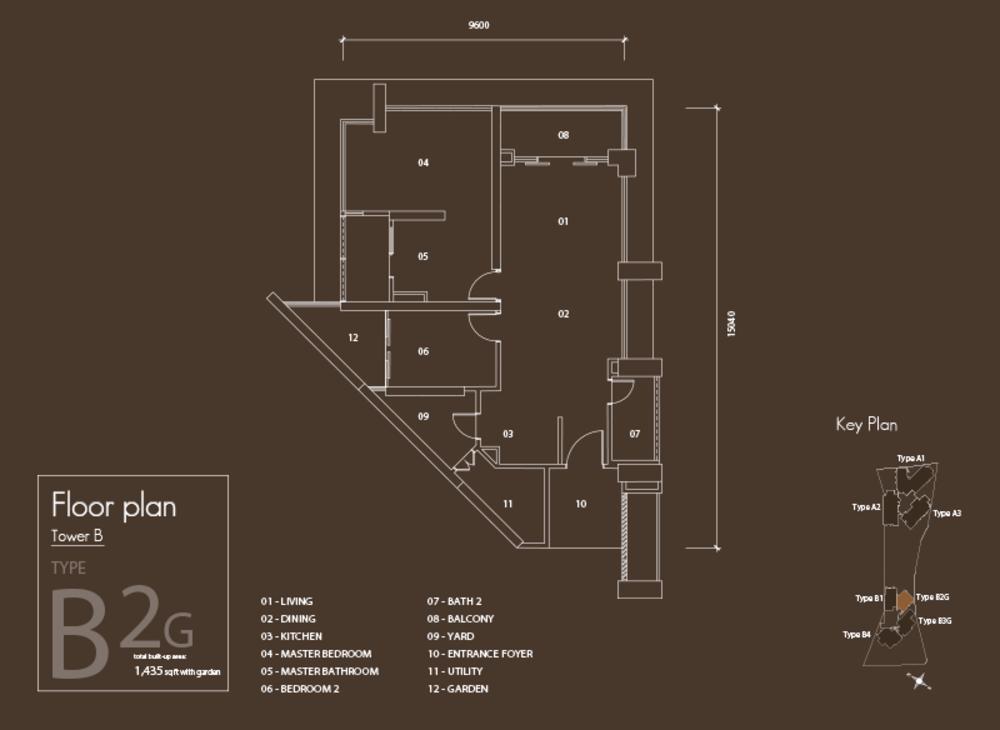 Setia V Residences Type B2G Floor Plan