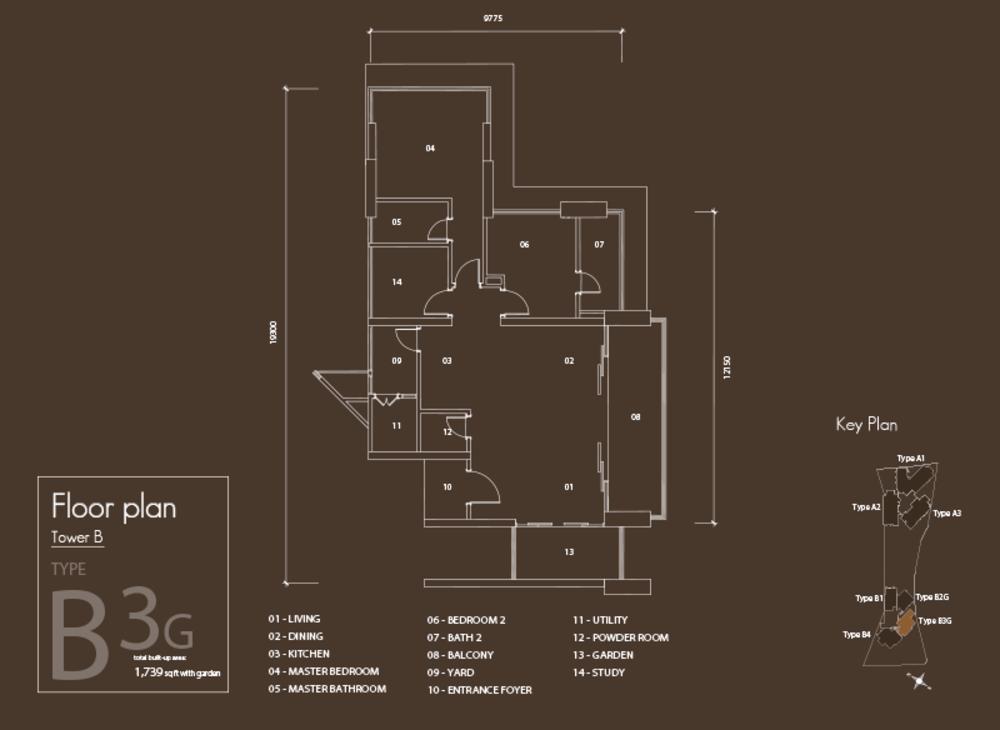 Setia V Residences Type B3G Floor Plan