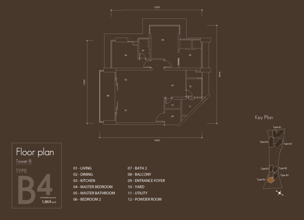 Setia V Residences Type B4 Floor Plan