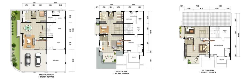 Carissa Villas Typical Unit Floor Plan