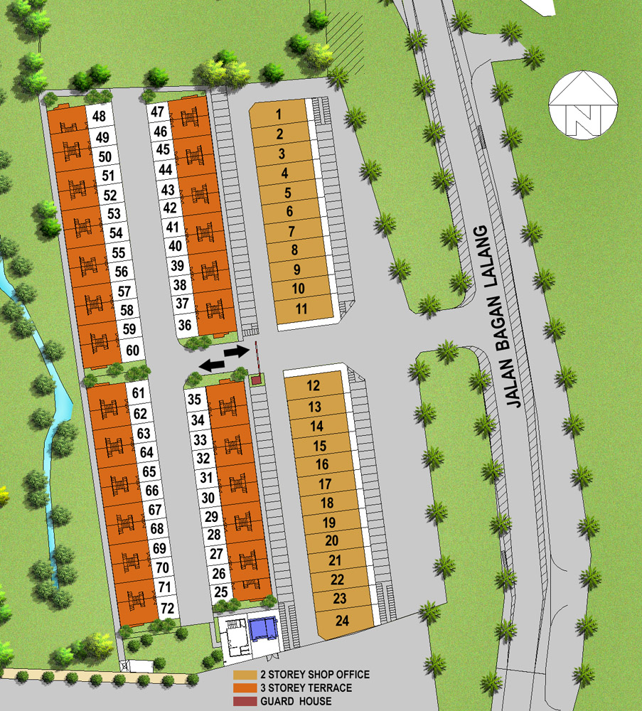 Site Plan of Carissa Villas