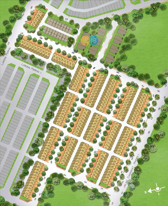 Site Plan of Raffel Residence 199