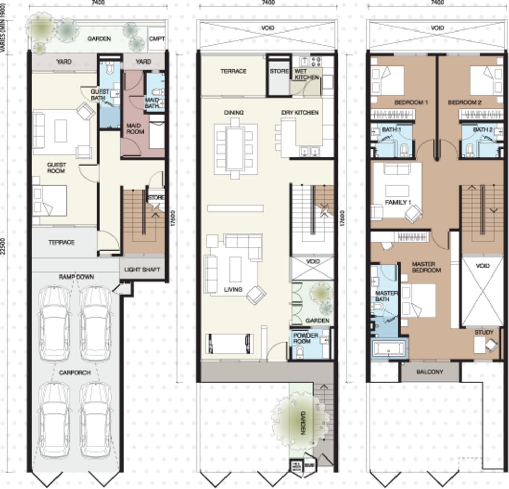 Vilaris Type A1 Floor Plan