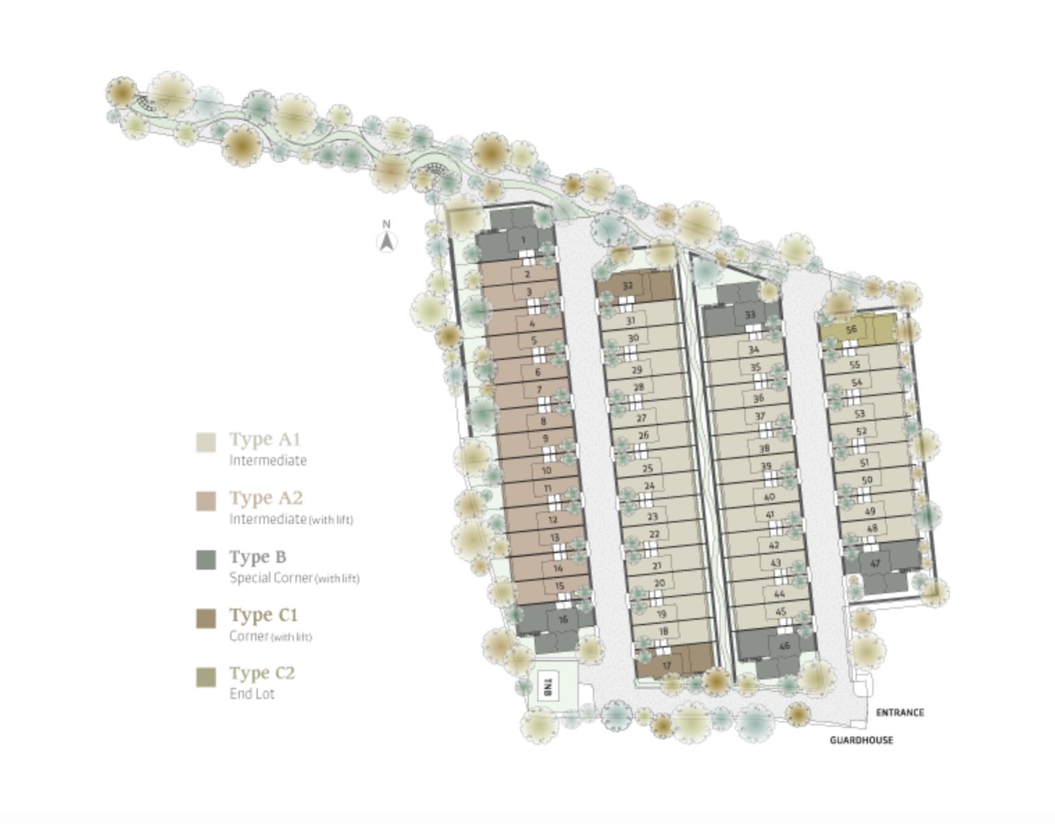 Site Plan of Vilaris