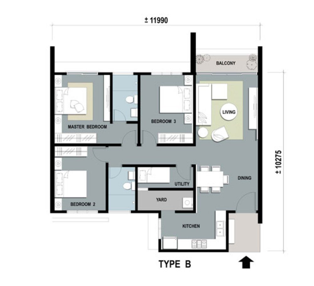 Gardens Ville Type B Floor Plan