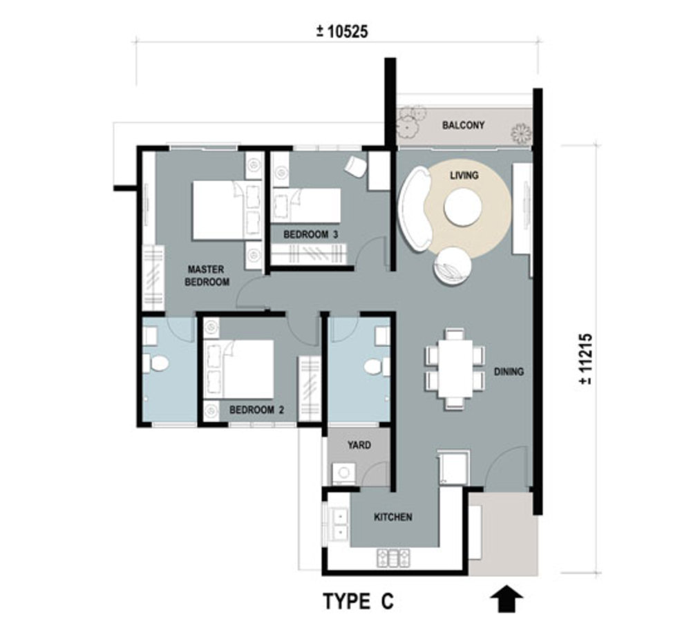 Gardens Ville Type C Floor Plan