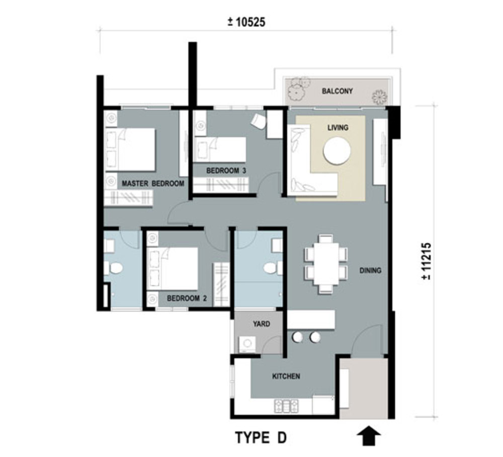Gardens Ville Type D Floor Plan