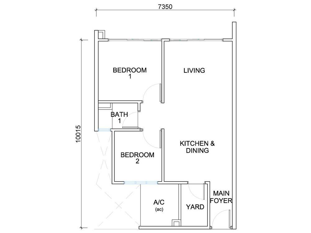 QuayWest Residence Type A1 Floor Plan