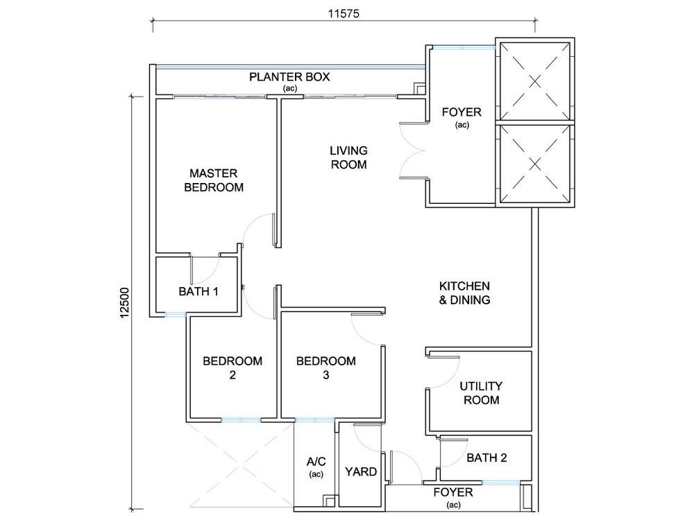QuayWest Residence Type B1 Floor Plan