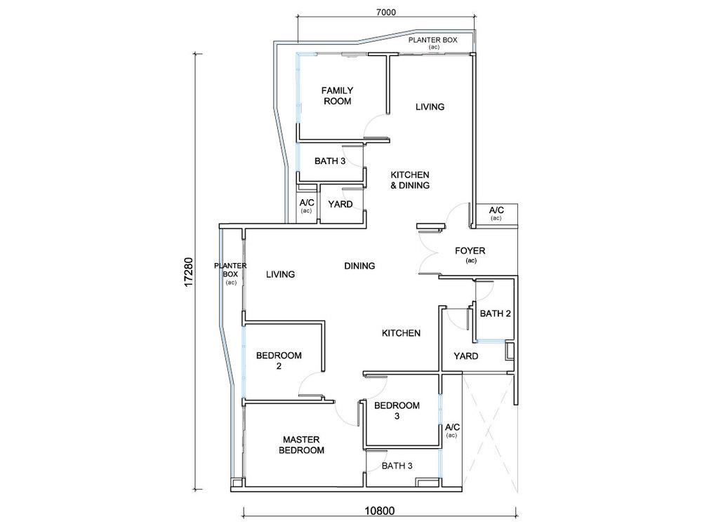 QuayWest Residence Type C2 Floor Plan