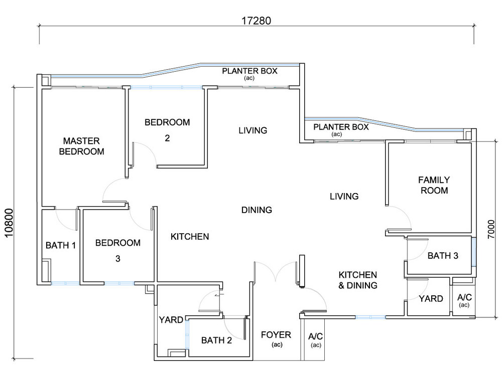 QuayWest Residence Type C3 Floor Plan