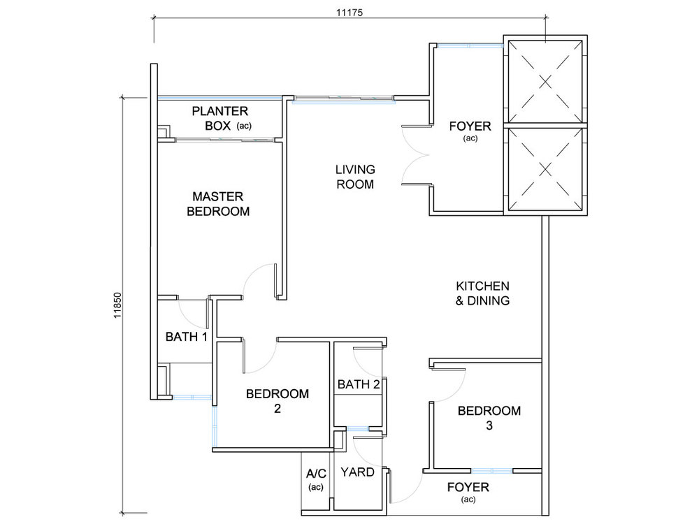 QuayWest Residence Type D1 Floor Plan