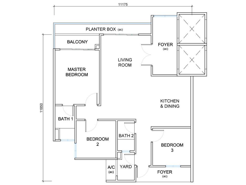 QuayWest Residence Type D2 Floor Plan