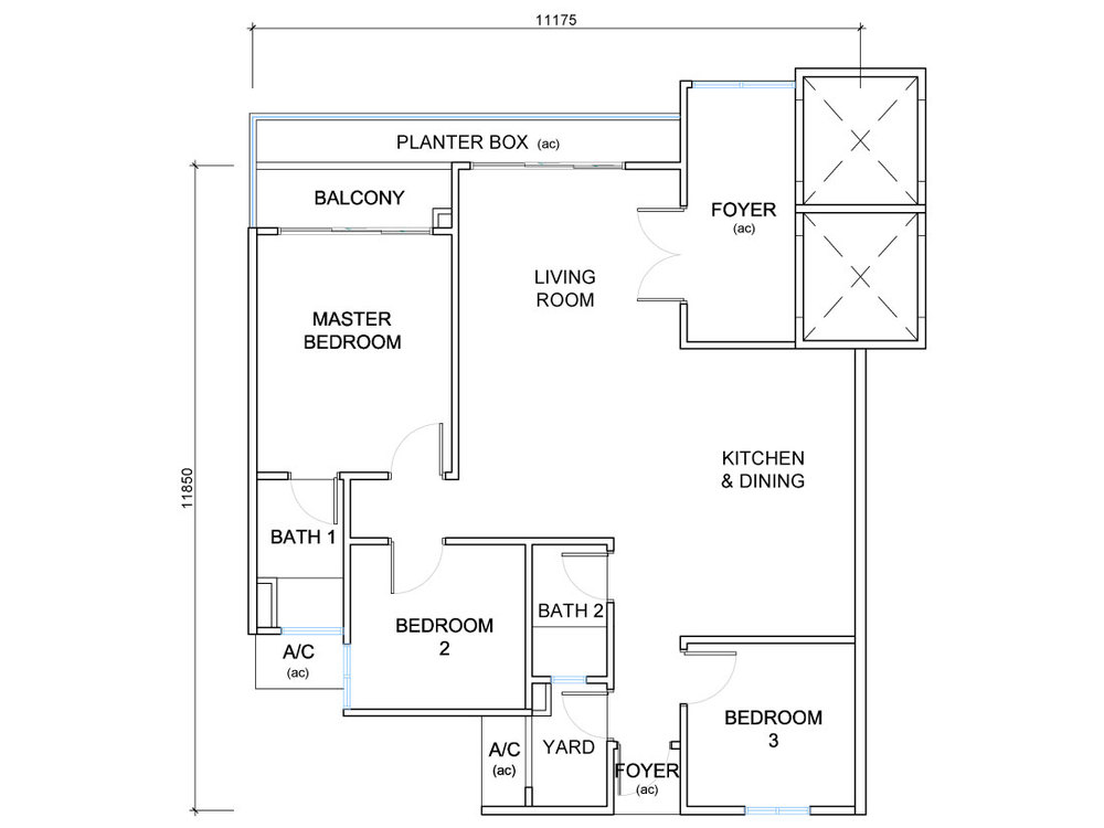 QuayWest Residence Type D4 Floor Plan