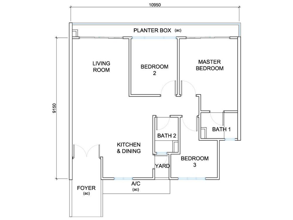 QuayWest Residence Type F2 Floor Plan