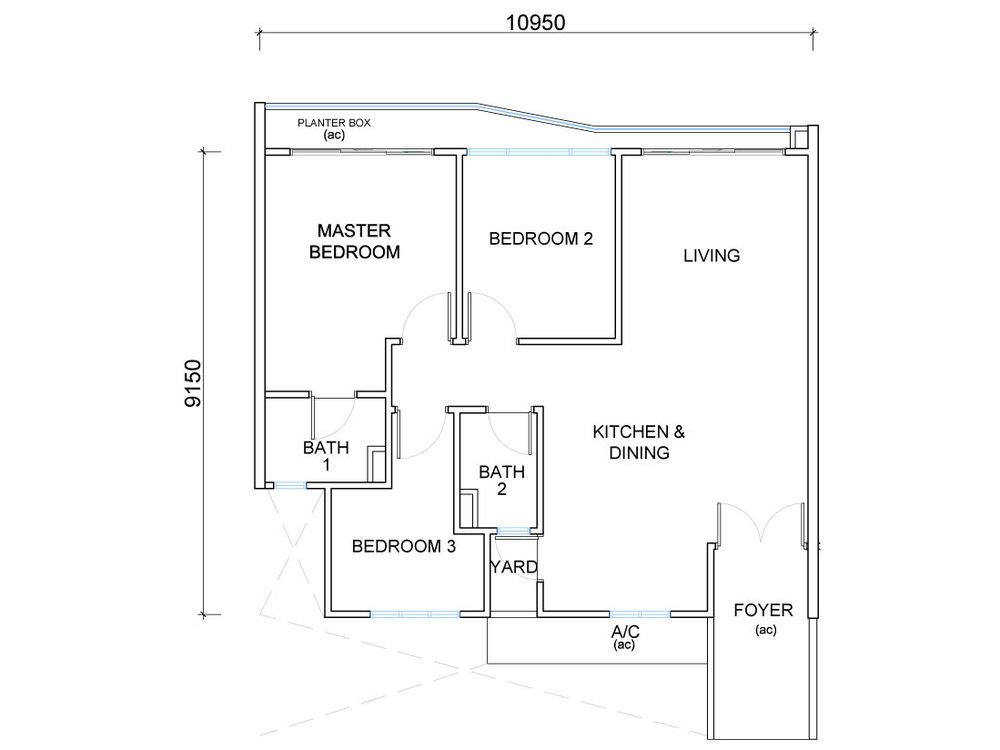 QuayWest Residence Type F3 Floor Plan