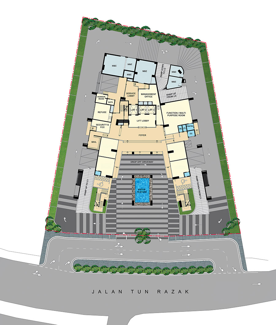 Site Plan of Three28 Tun Razak