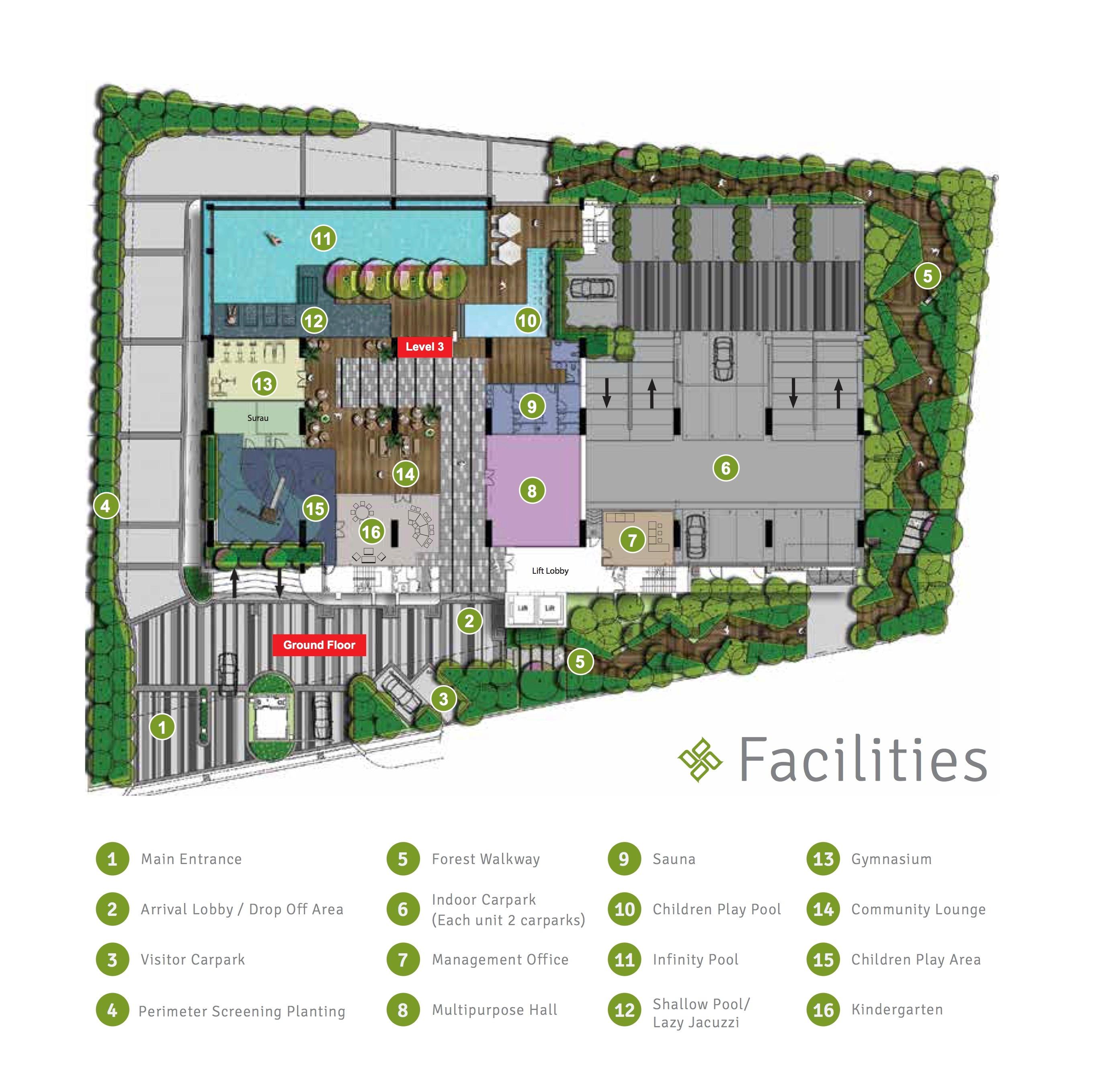 Site Plan of 100 Residency