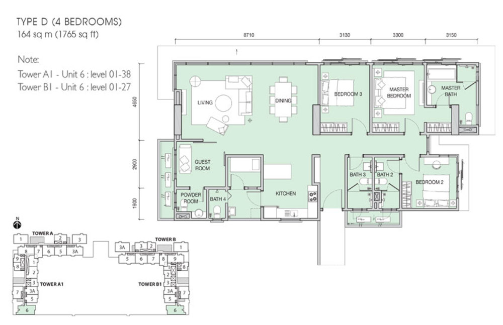Iskandar Residences Type D Floor Plan