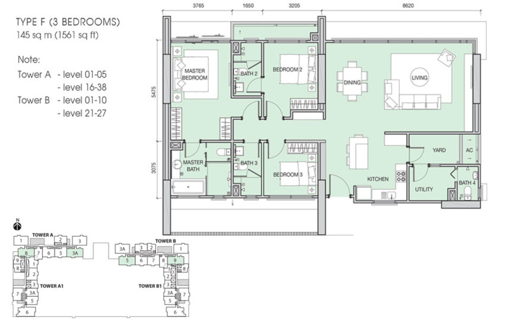 Iskandar Residences Type F Floor Plan