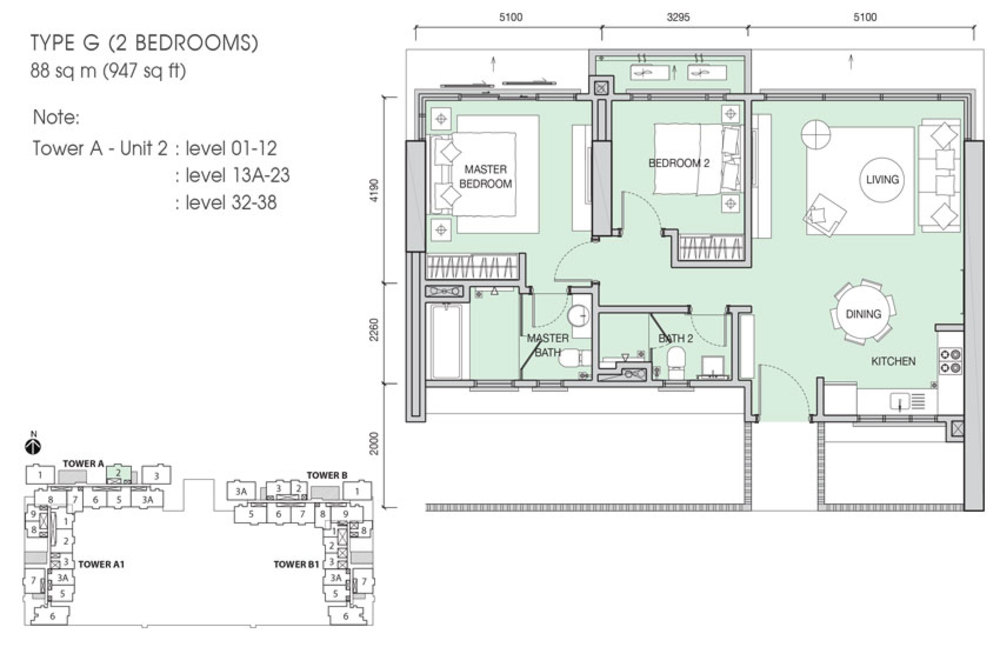 Iskandar Residences Type G Floor Plan