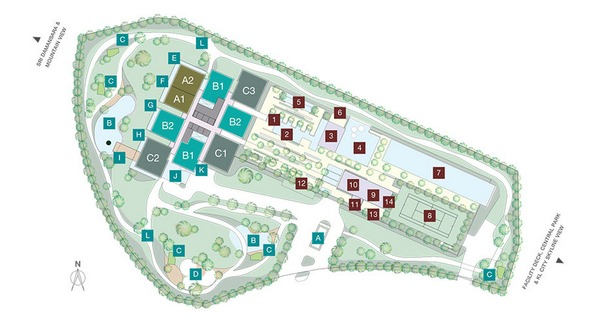 Site Plan of One Central Park