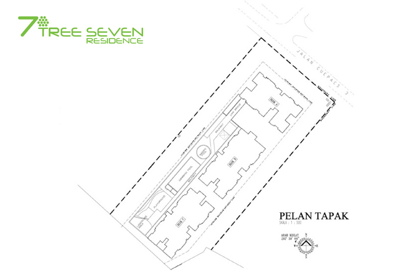 Site Plan of 7 Tree Seven Residence