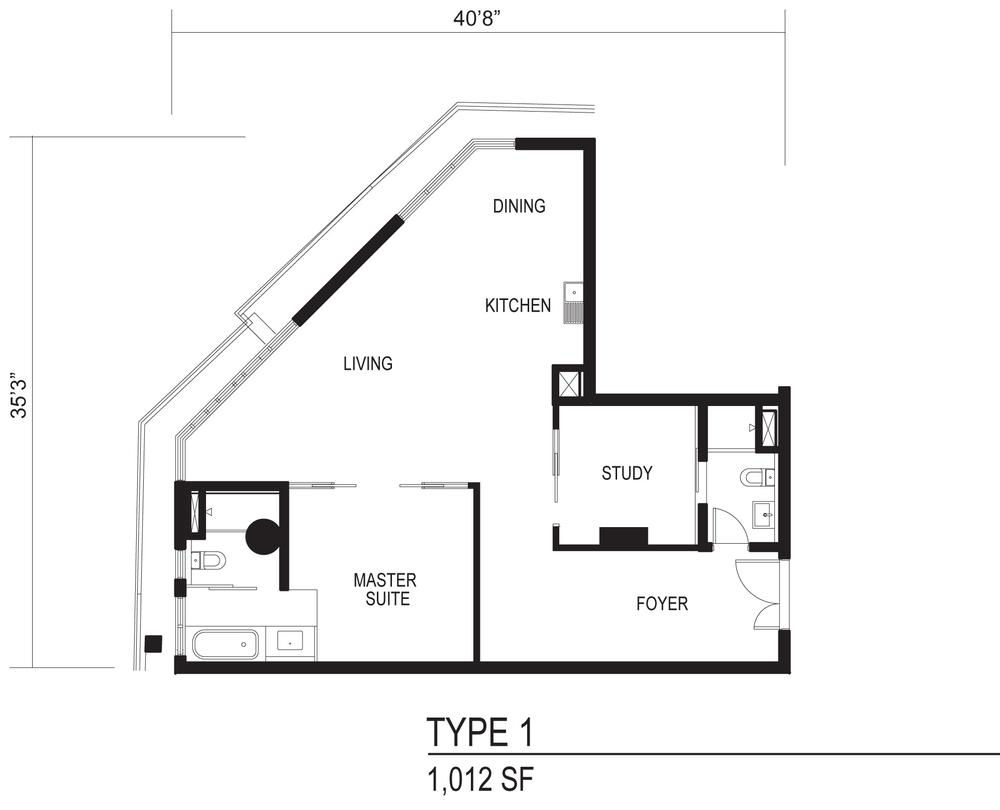 The Octagon Type 1 Floor Plan