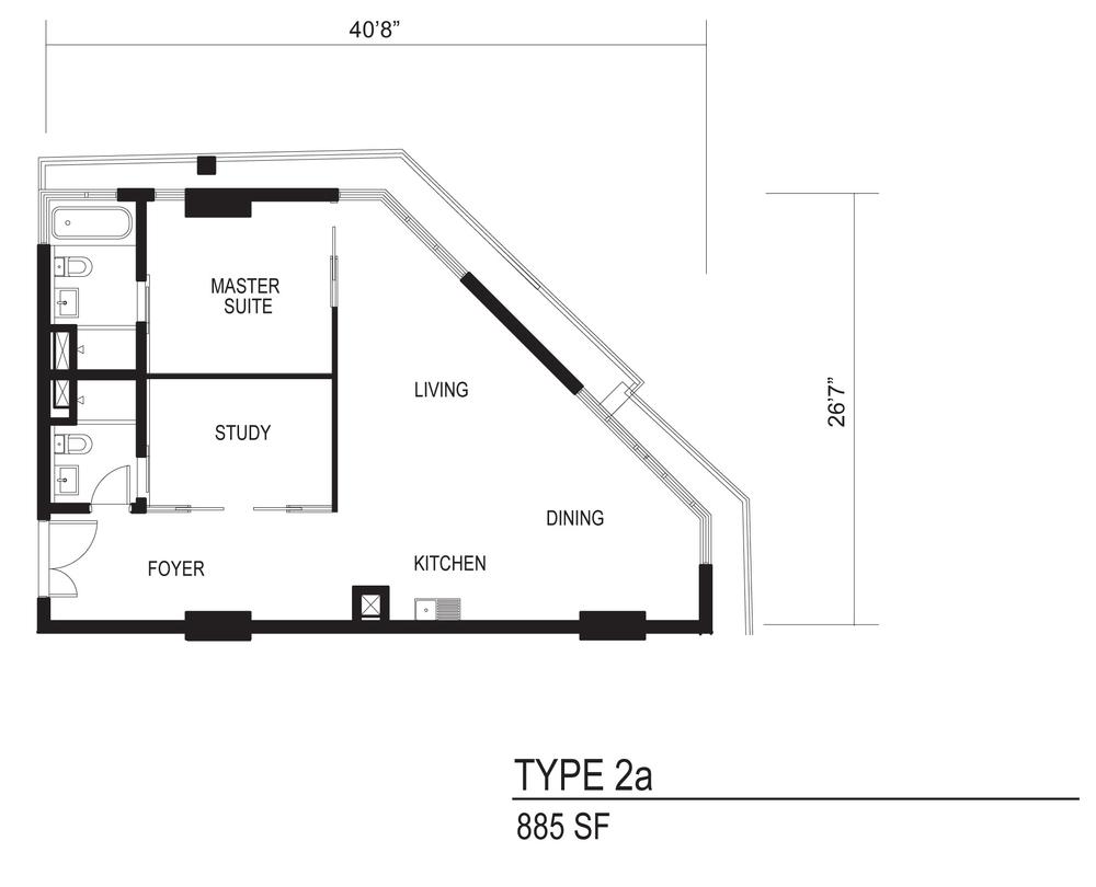 The Octagon Type 2a Floor Plan