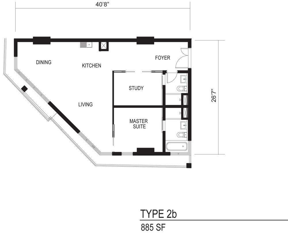 The Octagon Type 2b Floor Plan