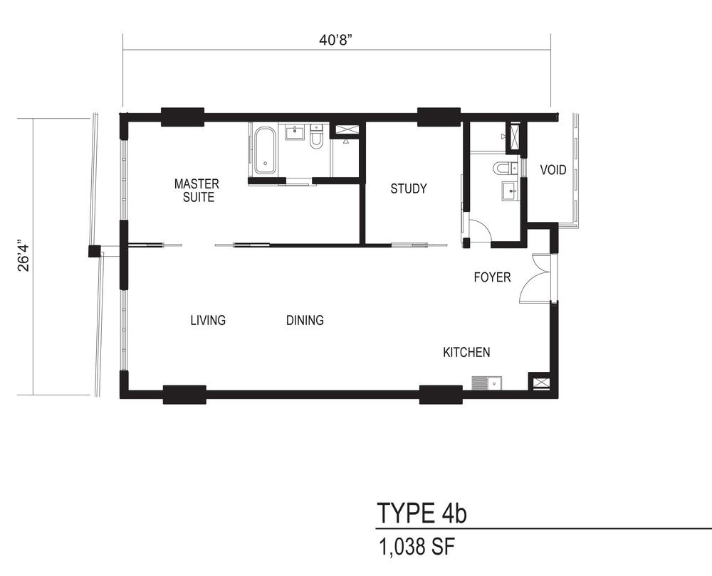The Octagon Type 4b Floor Plan
