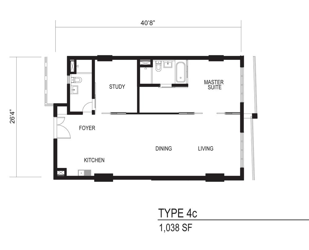 The Octagon Type 4c Floor Plan
