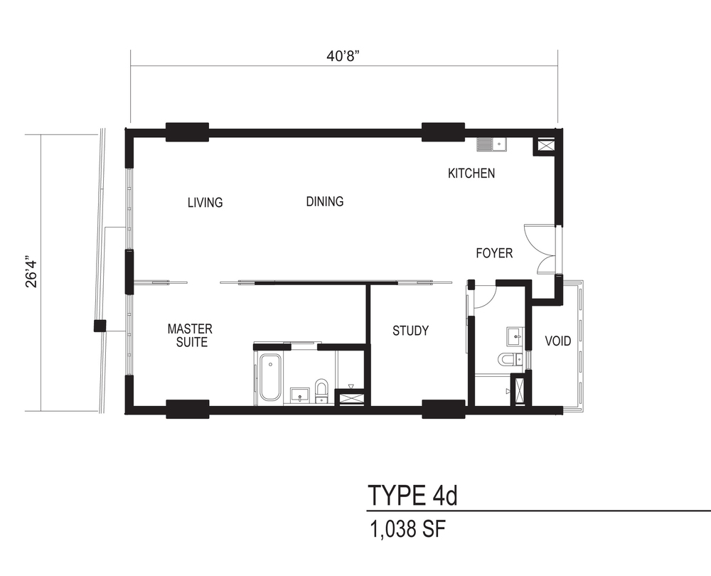 The Octagon Type 4d Floor Plan