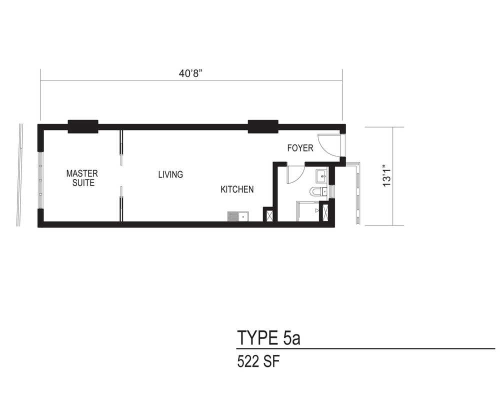 The Octagon Type 5a Floor Plan