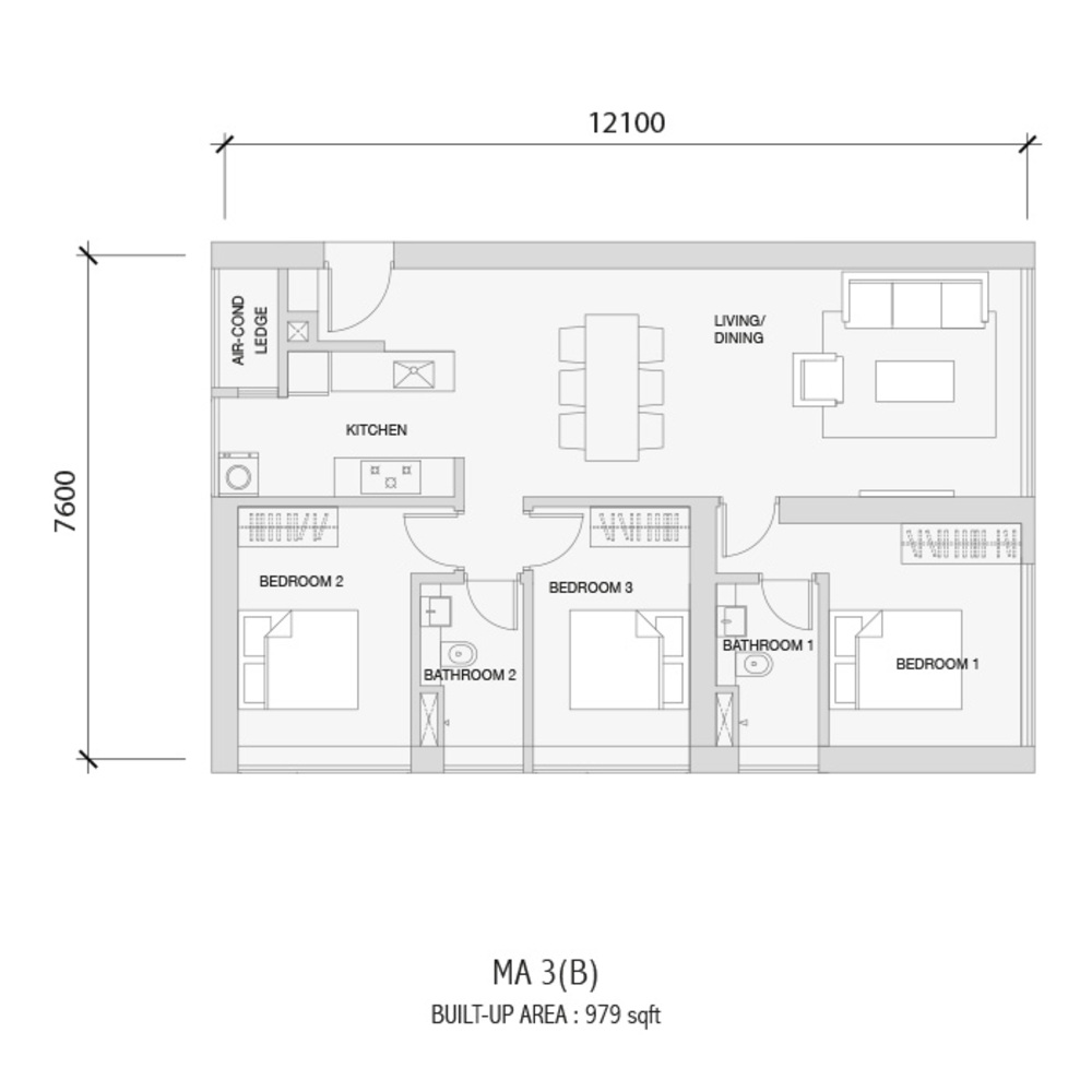 Setia Sky 88 MA 3(B) Floor Plan