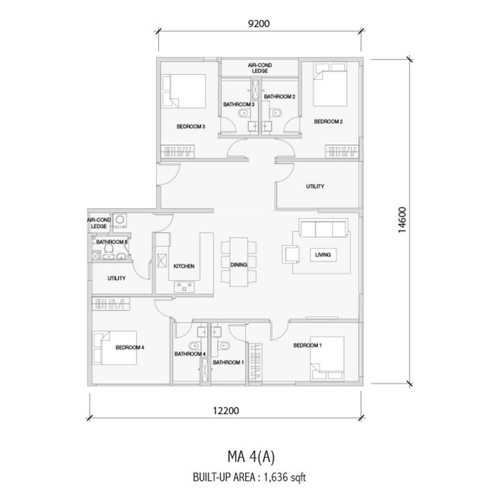 Setia Sky 88 MA 4(A) Floor Plan