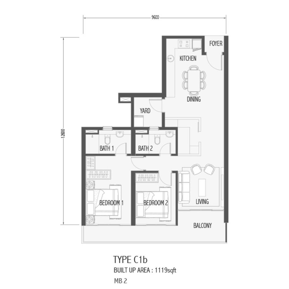 Setia Sky 88 Type C1B - Sora Floor Plan
